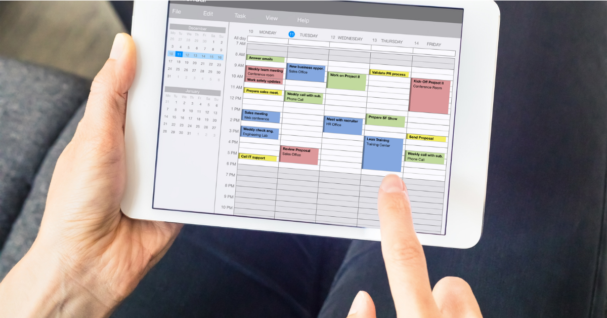 VA for calendar management